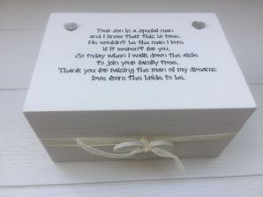 Shabby Personalised Chic Special Mother Of The Groom From Bride Gift Box Wedding